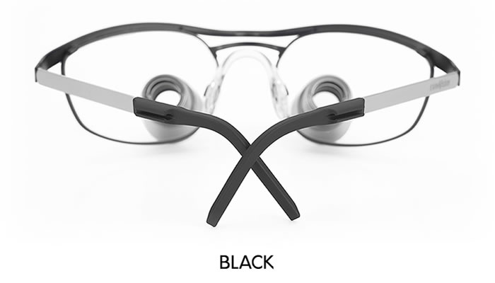 examvision temple tips black
